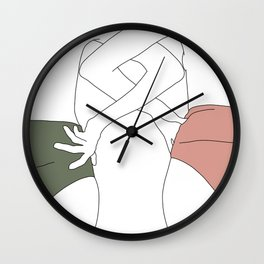 Figures line drawing - Elinor Wall Clock