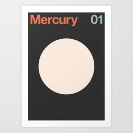 Mercury 01 - Minimal Planets Art Print