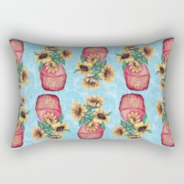 Sunflower Vase Rectangular Pillow
