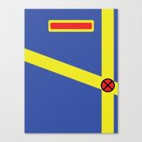 xmen Canvas Prints featuring Cyclops - Minimalist - XMen by Adrian Mentus