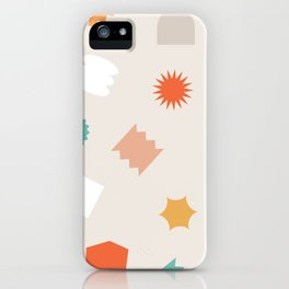 Floating geos iPhone Case