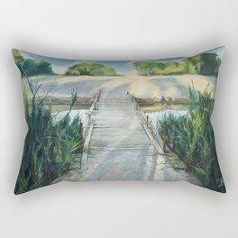 Bridge To Beach Rectangular Pillow