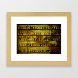 Death and jar Framed Art Print