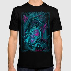CROC-LORD Black 2X-LARGE Mens Fitted Tee