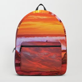 Evening flame Backpack