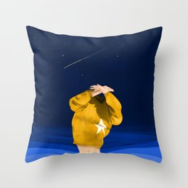 Let's get naked and do nothing Throw Pillow