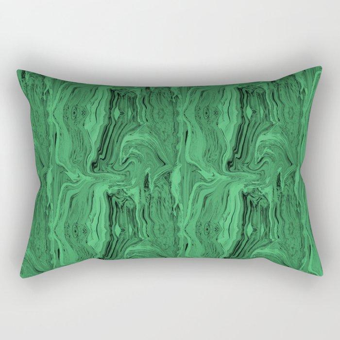 Emerald marble swirl Rectangular Pillow