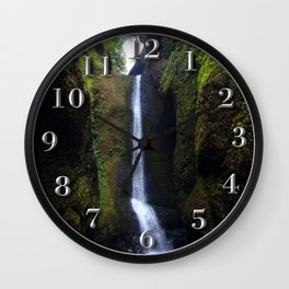 Lower Oneonta Falls, Oneonta Gorge, Oregon Wall Clock