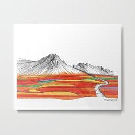 Mountain Landscape Contemporary Art, Mountain drawing, Modern Art, nature , Abstract Art, Mountains Metal Print