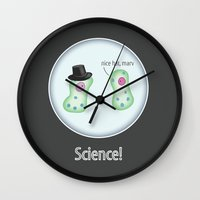 science Wall Clocks featuring Science! by Jackie Wyant