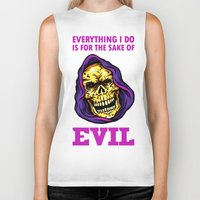 evil Biker Tanks featuring EVIL by DesecrateART (Infected)