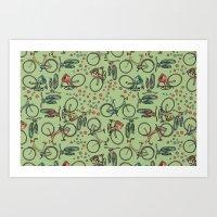 bikes Art Prints featuring Bikes by Catru