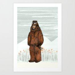 Wilder Mann - The Bear Art Print