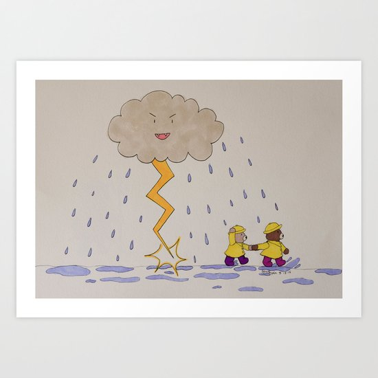 Stormy Weather Art Print