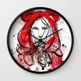Miss Red Riding Hood Wall Clock