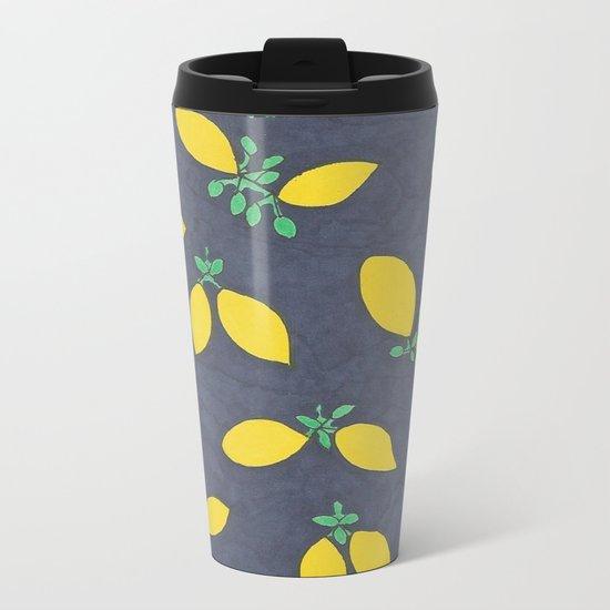 Lemon Drops Metal Travel Mug