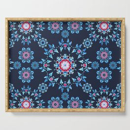 winter mandala Serving Tray