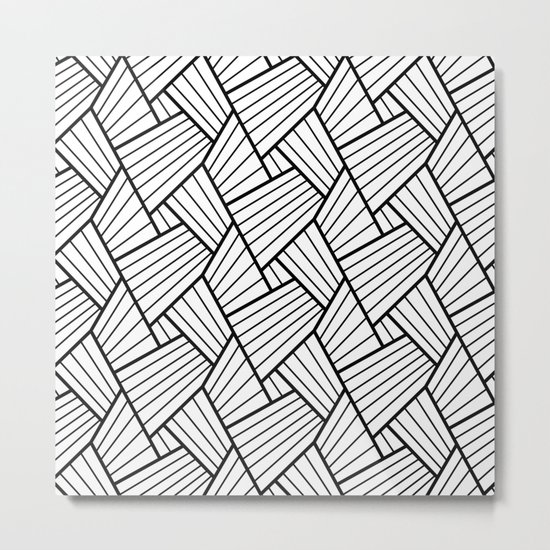 Abstract Lines Pattern Design 1 Metal Print