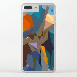 Abstracto15 Clear iPhone Case