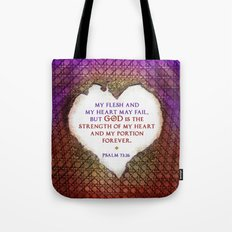 The Strength of My Heart Tote Bag