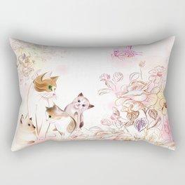 Motherhood Cat and Kittens Rectangular Pillow