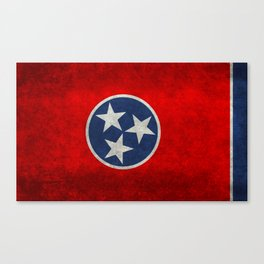 Tennessee State flag, Vintage Retro Style Canvas Print