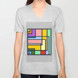 Colorful Complexity Unisex V-Neck