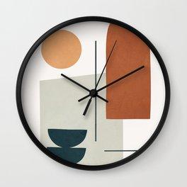 Minimal Shapes No.38 Wall Clock
