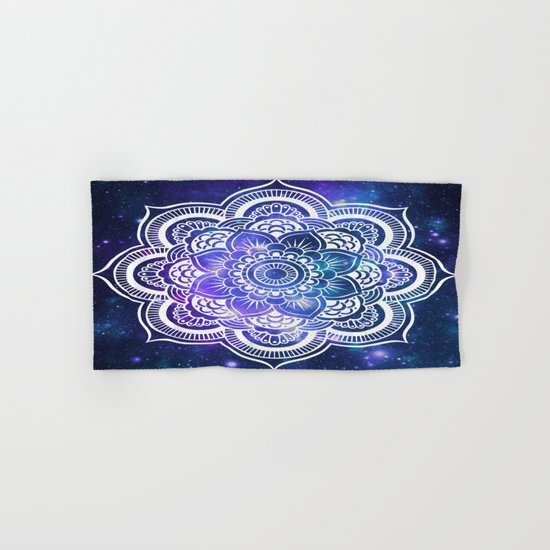 Mandala: Violet & Teal Galaxy Hand & Bath Towel