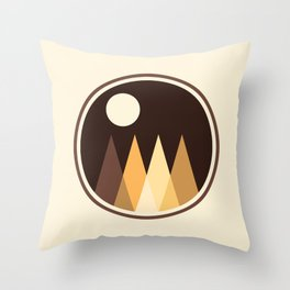 Coffee Sky with Creamy Moon on Capuccino Forest Throw Pillow