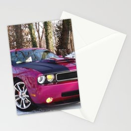 Fuchsia Panther Pink Limited Edition Hurst Challenger RT Stationery Cards