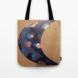Galaxy Crescent Moon Tote Bag