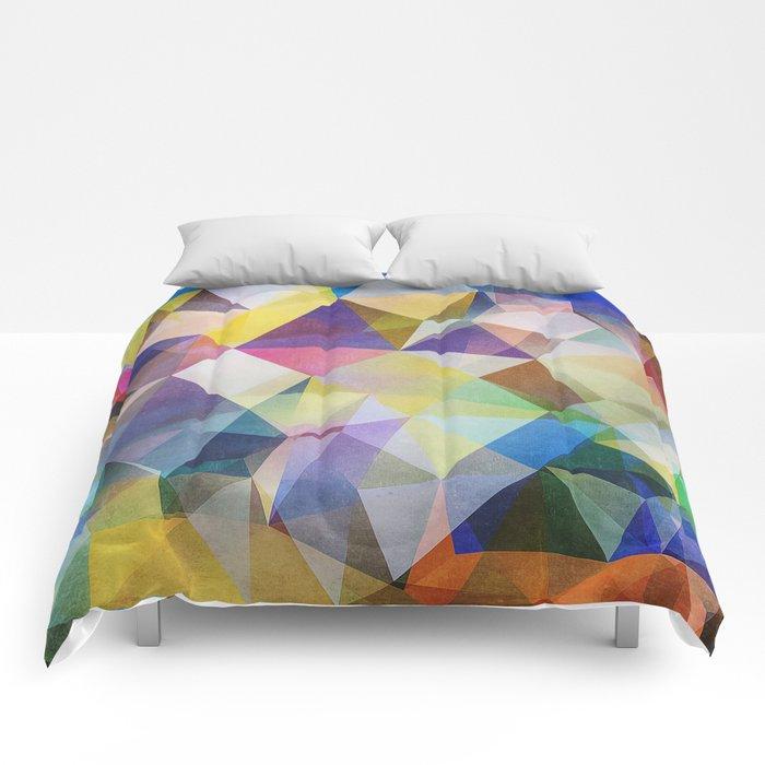 Textured Triangles Comforters