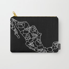 Mexico Map White Outline Carry-All Pouch
