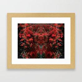 Mirrored Trees 11 Framed Art Print