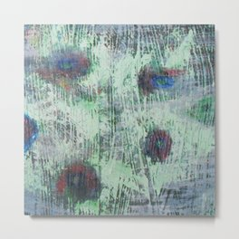 Cells - abstract, bright, RGB, acrylic piece Metal Print