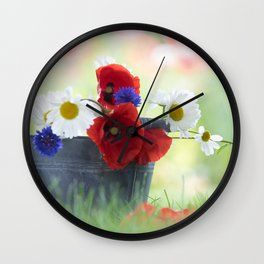 Poppies Symphonies Wall Clock