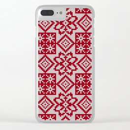 Pattern in Grandma Style #30 Clear iPhone Case