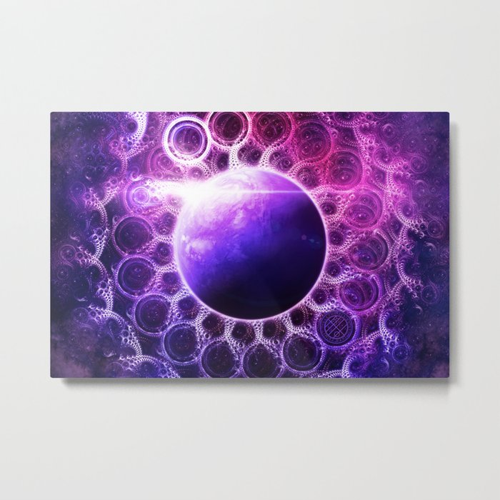 Deep Dream Fractal Mandala - Deep Space Galaxy Dreamer Metal Print