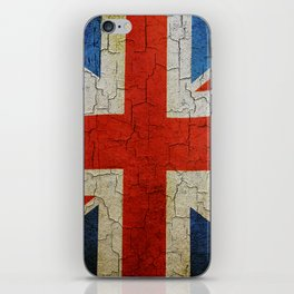 Vintage United Kingdom flag iPhone Skin
