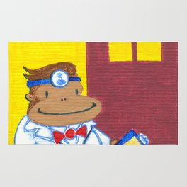 Doctor Ape on Yellow and Purple Rug