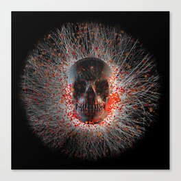 Skull Cinders Canvas Print