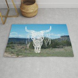 New Mexico Bull Skull Rug