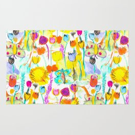 Childhood Butterfly's in a Spring Garden Rug