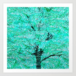 Trees Green Misty Art Print
