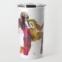 American football player in watercolor 13 Travel Mug