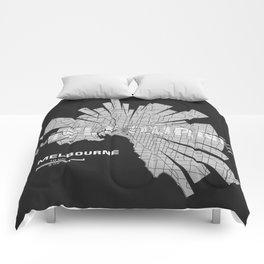 Melbourne Map Comforters