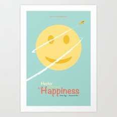 Hector and the search for happiness - minimal poster Art Print