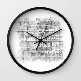 Efface-moi, tous les jours, toutes les nuits Wall Clock
