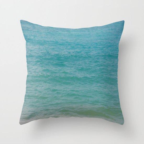 Maui: Aqua Throw Pillow